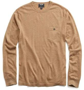 Todd Snyder Cashmere T-Shirt Sweater in Camel