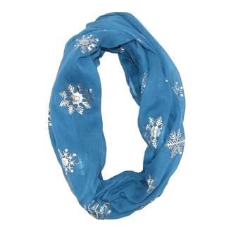 David & Young Women's Snowflake Holiday Infinity Loop Scarf