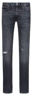 HUGO Boss Slim-fit low-rise jeans in Italian denim 31/32 Charcoal