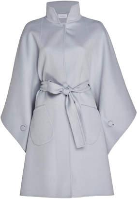 Luisa Beccaria Virgin Wool Cape Coat