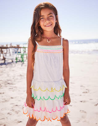 Boden Rainbow Scallop Dress