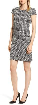 Karl Lagerfeld PARIS Tweed Pocket Sheath Dress