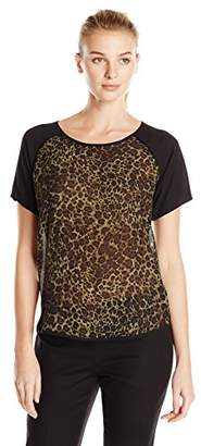 Lark & Ro Women's Short Sleeve Raglan Top