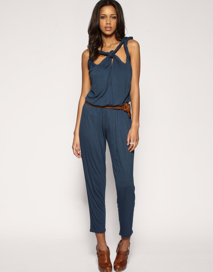 ASOS Multi Twist Jersey Peg Jumpsuit