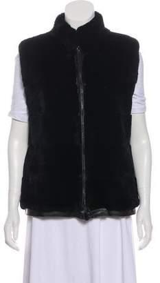 Adrienne Landau Zip-Up Fur Vest
