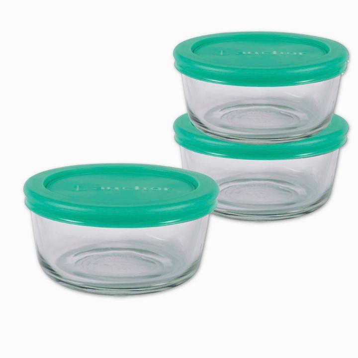Anchor Hocking 6-Piece 2-Cup Round Basic Food Storage Set
