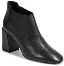 Via Spiga Lynette Block Heel Leather Booties