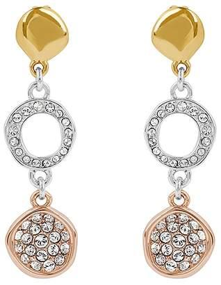 Adore Organic Circle Drop Earrings