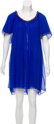 Diane von Furstenberg Beaded Silk Dress
