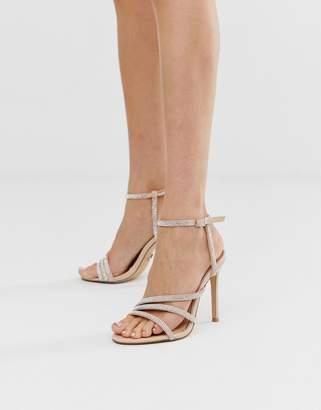 Lipsy rhinestone heeled sandal in pink