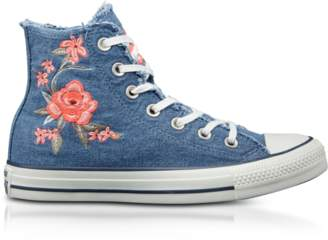 Converse Limited Edition Chuck Taylor All Star High Denim Frayed Flower Women's Sneakers