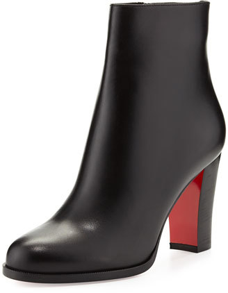 Christian Louboutin  Christian Louboutin Adox Leather 85mm Red Sole Ankle Boot, Black