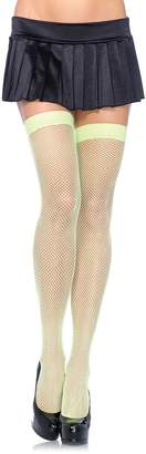 Leg Avenue Women's Nylon Fishnet Thigh-High Hosiery