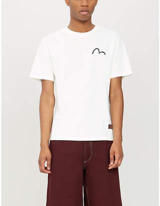 Evisu Logo-print cotton-jersey T-shirt