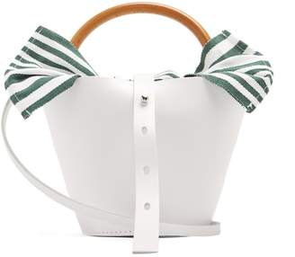Louise wood handle bucket bag