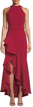 Shoshanna Kaori High-Low Cascading Ruffle Gown