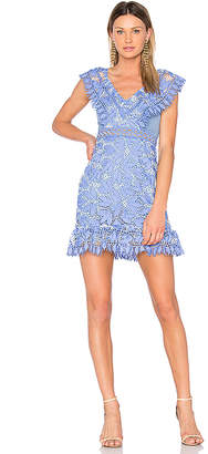 Aijek Marianna Ruffled Dress