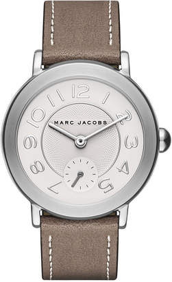 Marc Jacobs Women Riley Cement Leather Strap Watch 36mm