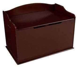 Kid Kraft Austin Wooden Toy Organizer Storage Chest Box and Sitting Bench, Cherry