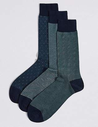 Marks and Spencer 3 Pack Egyptian Cotton Luxury Socks