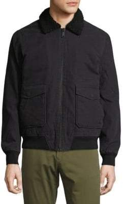 Tavik Houghton Sherpa Accented Full Zip Cotton Jacket