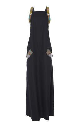 Bottega Veneta Cotton and Snakeskin Dress