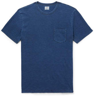 Faherty Indigo-Dyed Slub Cotton-Jersey T-Shirt - Men - Indigo
