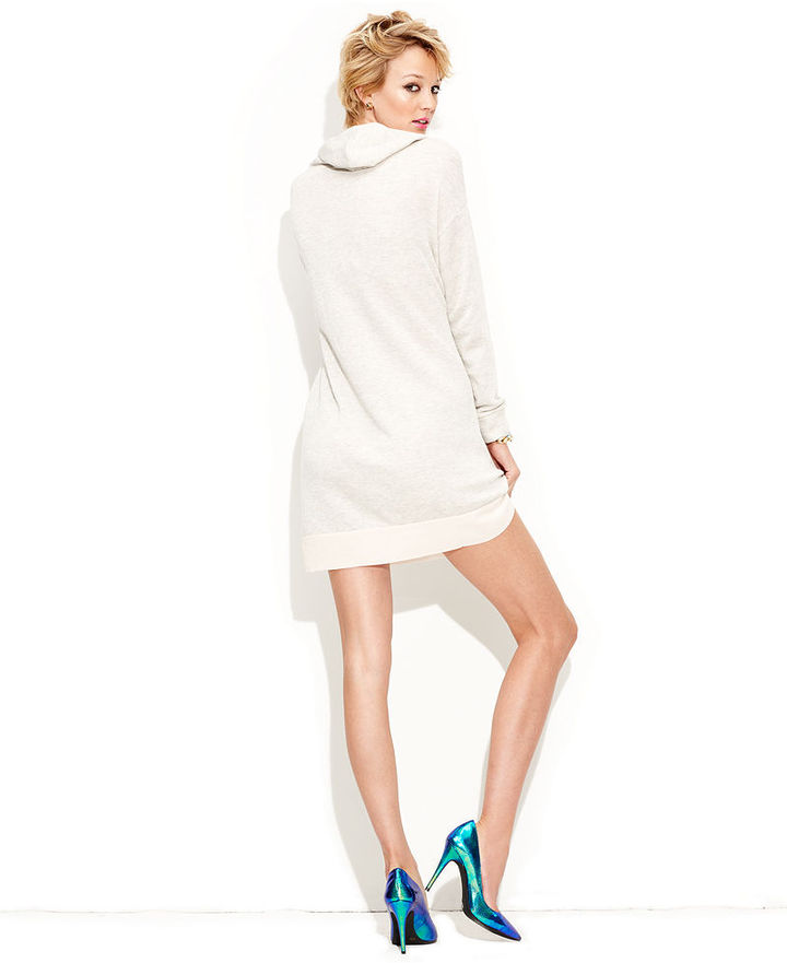 Made Fashion Week for Impulse Dress, Long-Sleeve Hooded Sweater Dress