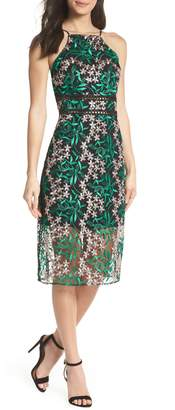 Sam Edelman Embroidered Lace Pencil Dress