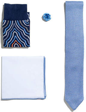 hook + ALBERT Shop the Look Suiting Accessories Set, Light Blue