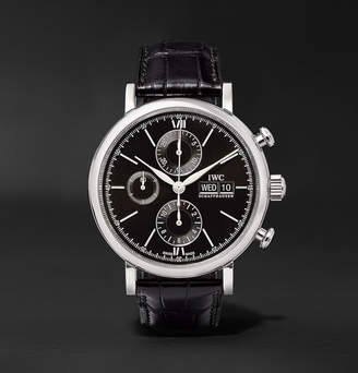 IWC SCHAFFHAUSEN Portofino Chronograph 42mm Stainless Steel And Alligator Watch