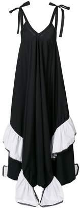 Milla long ruffle dress