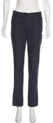 Akris Punto Mid-Rise Straight-Leg Jeans