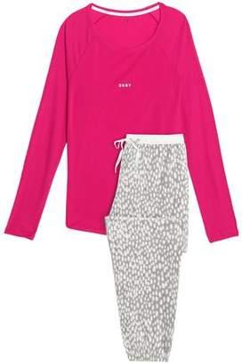 DKNY Gingham Flannel Pajama Set