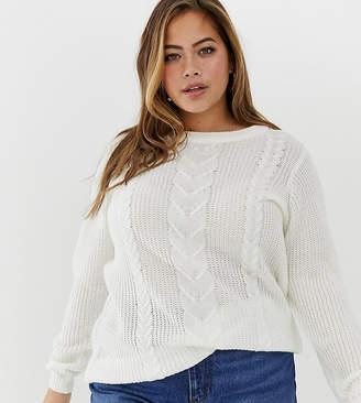 Zizzi cable knit jumper