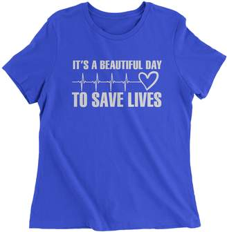 DAY Birger et Mikkelsen Expression Tees Womens (White Print) It's A Beautiful to Save Lives T-Shirt