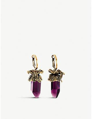 Alexander McQueen Iris crystal drop earrings