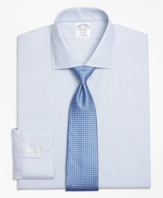 Brooks Brothers Regent Fitted Dress Shirt, Non-Iron Mini-Stripe
