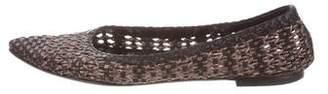 Aquatalia Woven Leather Flats