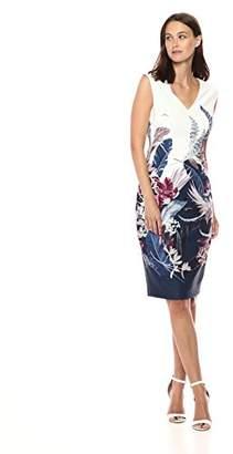 Adrianna Papell Women's Tropical Essence Printed Sheath Dress