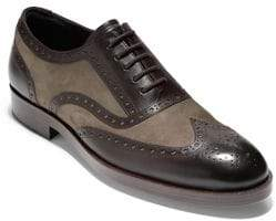 Cole Haan Henry Grand Shortwing Leather Oxfords