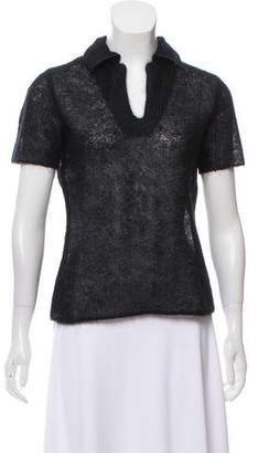 Philosophy di Alberta Ferretti Pointed Collar V-Neck Top