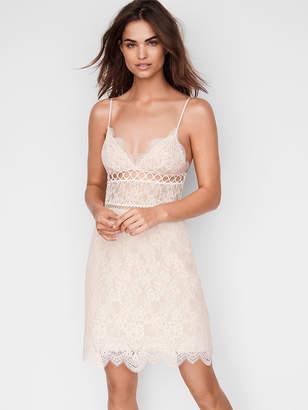 Victoria's Secret Dream Angels Floral Lace & Rings Slip Dress