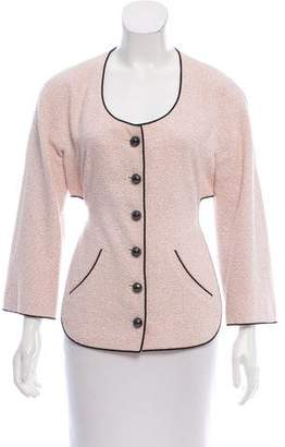 Chanel Tweed Collarless Jacket