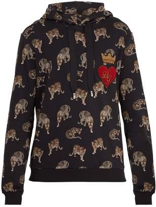 Dolce & Gabbana Hooded leopard-print cotton sweatshirt