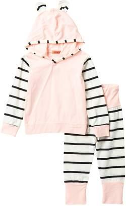 Funkyberry Striped Hoodie & Pants Set (Baby Girls)