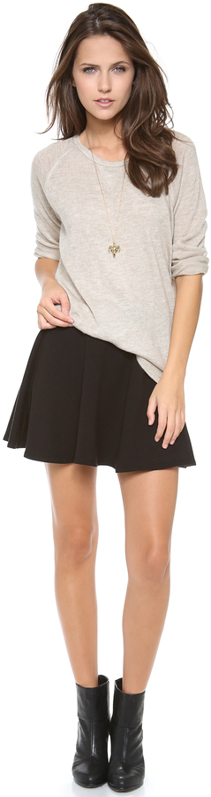 Splendid French Terry Miniskirt