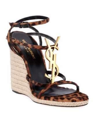 319aed9502f Yves Saint Laurent Leopard Print Shoes - ShopStyle
