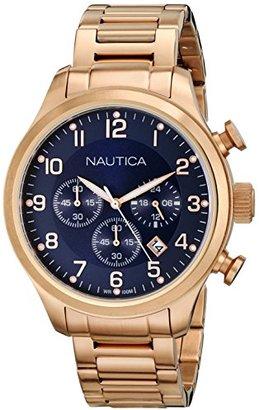 Nautica (ノーティカ) - ノーティカMen 's n20118g BFD 101 ChronoアナログDisplayクオーツローズゴールドWatch