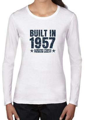 Hollywood Thread Built In 1957 - Perfect Birthday Present Gift - Vintage Women's Long Sleeve T-Shirt
